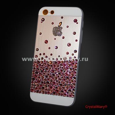 Чехол на айфон с разноцветными кристаллами Swarovski (Австрия) www.crystalmary.ru