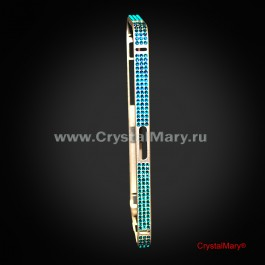 Защитный бампер на iPhone 5/5s с кристаллами Swarovski (Австрия)  www.crystalmary.ru
