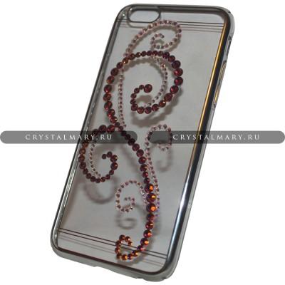 Чехлы со стразами на айфон 6/6S www.crystalmary.ru