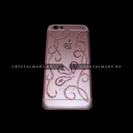 Розовый чехол на айфон 6  www.crystalmary.ru