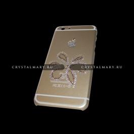 Золотой чехол на айфон  www.crystalmary.ru