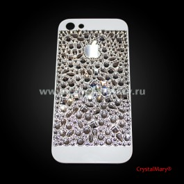 Чехол для айфона усыпанный кристаллами Swarovski (Австрия) www.crystalmary.ru