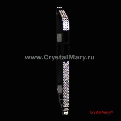 Черный бампер для iPhone 5/5S  www.crystalmary.ru