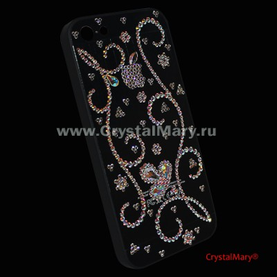 Айфон 5 чехлы со стразами  www.crystalmary.ru