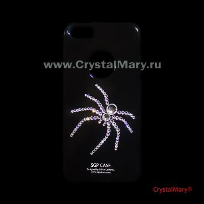 Панель на айфон 5 Паук www.crystalmary.ru