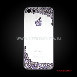 Панель на айфон с россыпью кристаллов Swarovski  www.crystalmary.ru