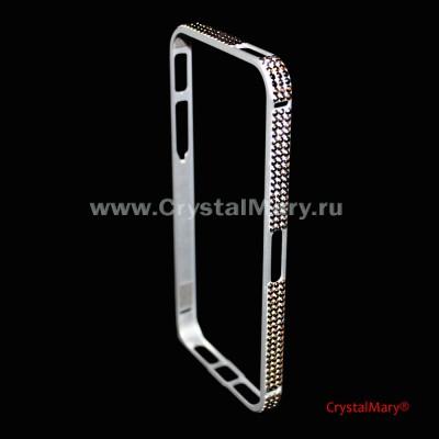 Стальной защитный бампер для айфона  www.crystalmary.ru