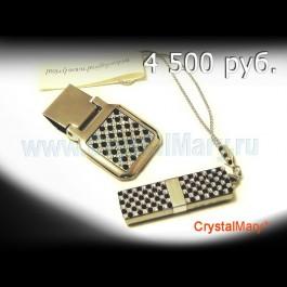 Набор Держатель для денег и Флешка 4Гб  www.crystalmary.ru