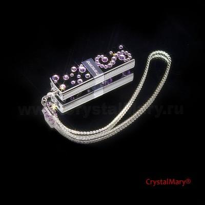 Флешки cо стразами Сваровски www.crystalmary.ru