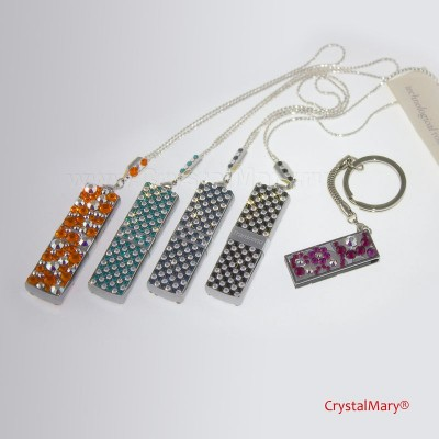 Флеш карты cо стразами Сваровски 16Гб www.crystalmary.ru