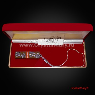 "Флешка ""Черный бриллиант""  www.crystalmary.ru"