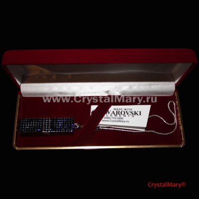 Флеш карта Transcend 16Gb с кристаллами Сваровски  www.crystalmary.ru