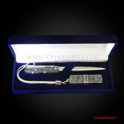 Набор Ручка и Флешка Jet Hematite 16 Gb www.crystalmary.ru