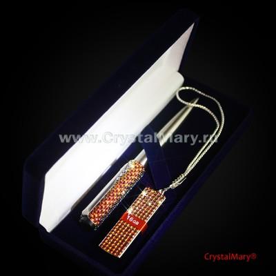 Набор ручка и флешка 16ГБ Вулкан www.crystalmary.ru