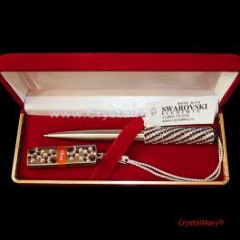 Parker и флеш карта Transcend 16Gb Burgundy+Crystal  www.crystalmary.ru