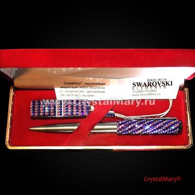 Набор ручка Parker с флеш картой Transcend 16Gb с кристаллами Swarovski www.crystalmary.ru