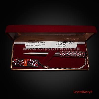 Подарочный набор ручка Parker с флеш картой Transcend  www.crystalmary.ru