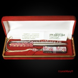 Ручка Parker с флеш картой Transcend 16Gb с кристаллами Swarovski