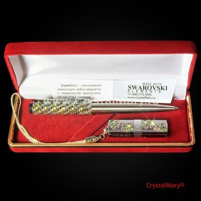 Vip подарок: ручка Parker с флеш картой 16Gb www.crystalmary.ru