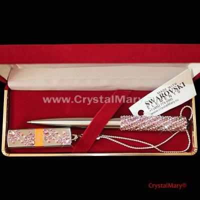 Ручка Parker с картой Transcend 16Gb Light Amethist+Crystal www.crystalmary.ru