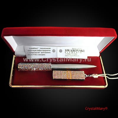 Ручка Parker с флеш картой Transcend 16Gb с кристаллами Swarovski www.crystalmary.ru