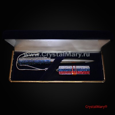 Подарочный набор ручка флешка www.crystalmary.ru