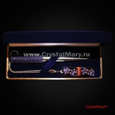 Подарочный набор: Сиреневый туман  www.crystalmary.ru