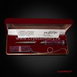 "Подарочный набор ручка Parker с флешкой ""Фуксия""  www.crystalmary.ru"