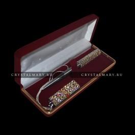 Подарочный набор: Ручка Parker с флеш картой Transcend 16Gb  с кристаллами Swarovski, Австрия  www.crystalmary.ru