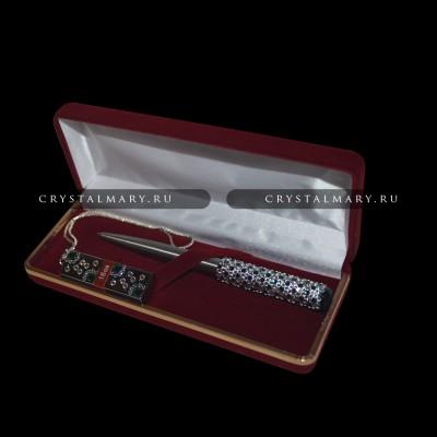 """Набор ручка флешка """"Новогоднее настроение"""" www.crystalmary.ru"""