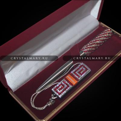 Подарочный набор ручка и флешка www.crystalmary.ru