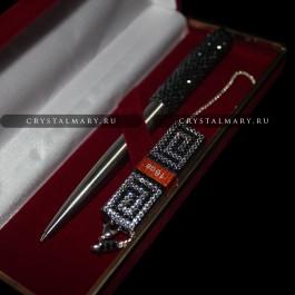 Подарочные наборы: Ручка Parker и флеш карта Transcend 16Gb, инкрустированные кристаллами Swarovski (Австрия)  www.crystalmary.ru