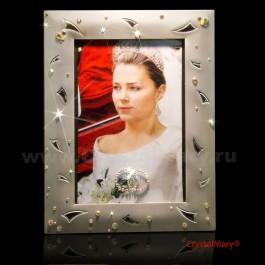 Фоторамка со стразами  www.crystalmary.ru