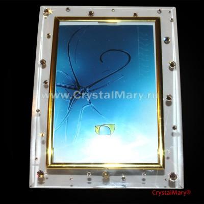 Рамка для фотографий с кристаллами Swarovski  www.crystalmary.ru