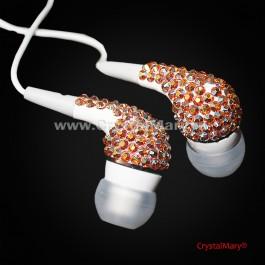 Наушники со стразами  www.crystalmary.ru