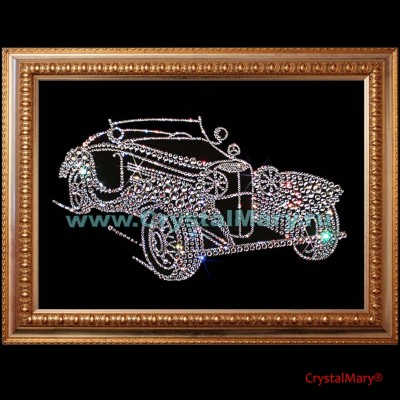 Кабриолет из страз Swarovski www.crystalmary.ru