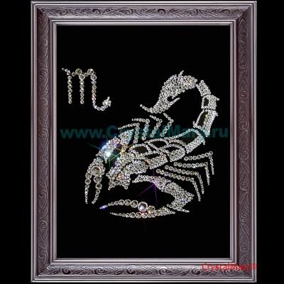 Скорпион, знак зодиака из страз Сваровски www.crystalmary.ru