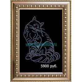 Кот - символ удачи из страз Swarovski www.crystalmary.ru