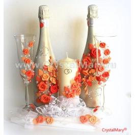Бутылки в стиле декупаж  www.crystalmary.ru