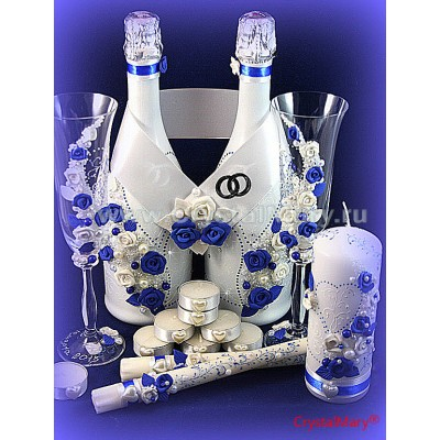 Оформление бутылки декупаж  www.crystalmary.ru