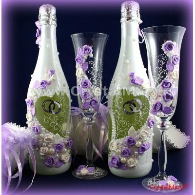 Свадебные бутылки  www.crystalmary.ru