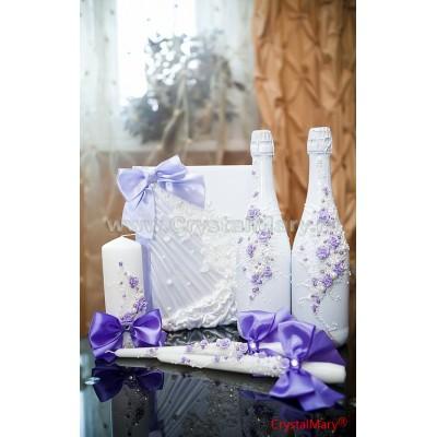 Свадебные бутылки шампанского www.crystalmary.ru