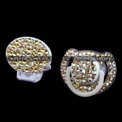 Набор: Соска Avent с прищепкой-держателем Jounquil www.crystalmary.ru