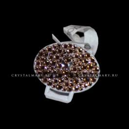 Подарок новорожденному: Золотой держатель для соски  www.crystalmary.ru