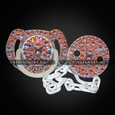 Подарки для новорожденных: Соска Avent с прищепкой на цепочке www.crystalmary.ru