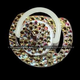 Подарок на рождение ребенка: Соска Avent с кристаллами Сваровски (Австрия)  www.crystalmary.ru