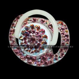 Подарок новорожденной девочке: соска Avent с нежно-розовыми кристаллами Swarovski (Австрия)  www.crystalmary.ru