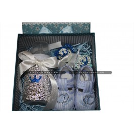 Подарок новорожденному: avent набор с кристаллами Swarovski (Австрия)  www.crystalmary.ru