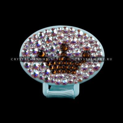 Держатель - прищепка для соски с кристаллами Swarovski (Австрия) www.crystalmary.ru