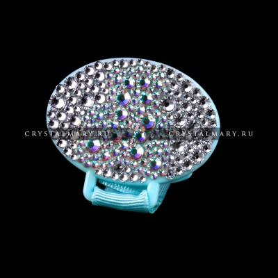 Держатель - прищепка для соски с мишкой из страз Swarovski  (Австрия) www.crystalmary.ru